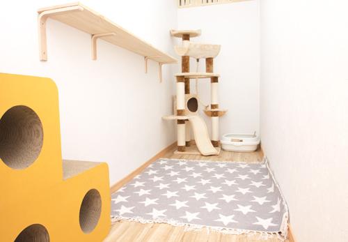 ねこべや羽田空港店室内風景(2畳のお部屋)